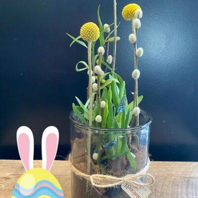 Glas med forår Hyacinten